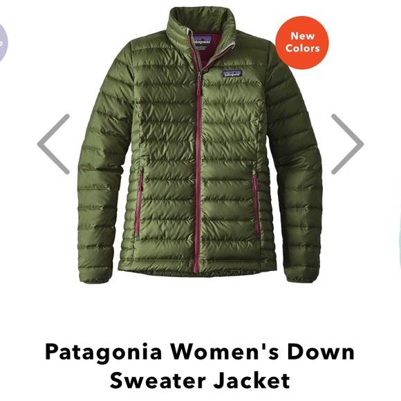 Patagonia Down Sweater Jacket Buffalo Green NWT